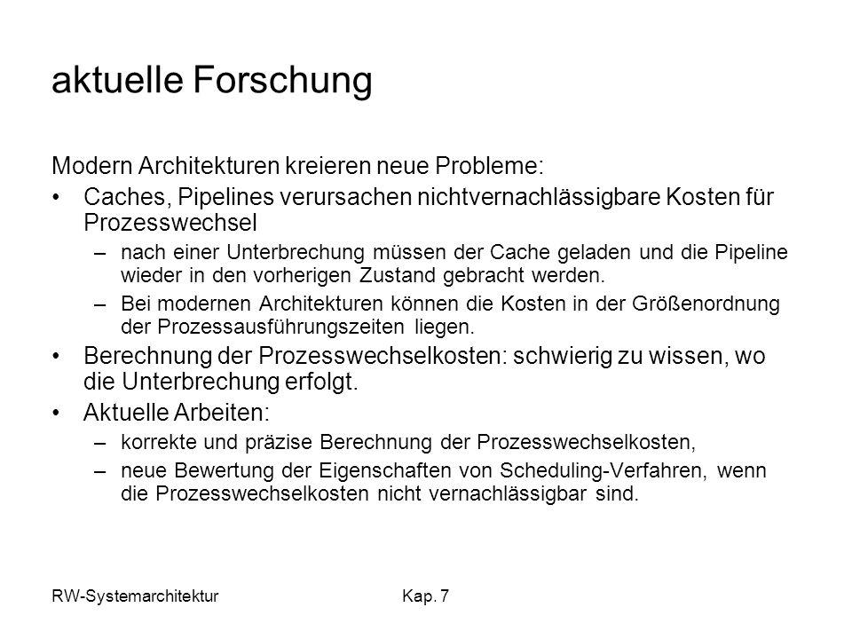 aktuelle Forschung Modern Architekturen kreieren neue Probleme: