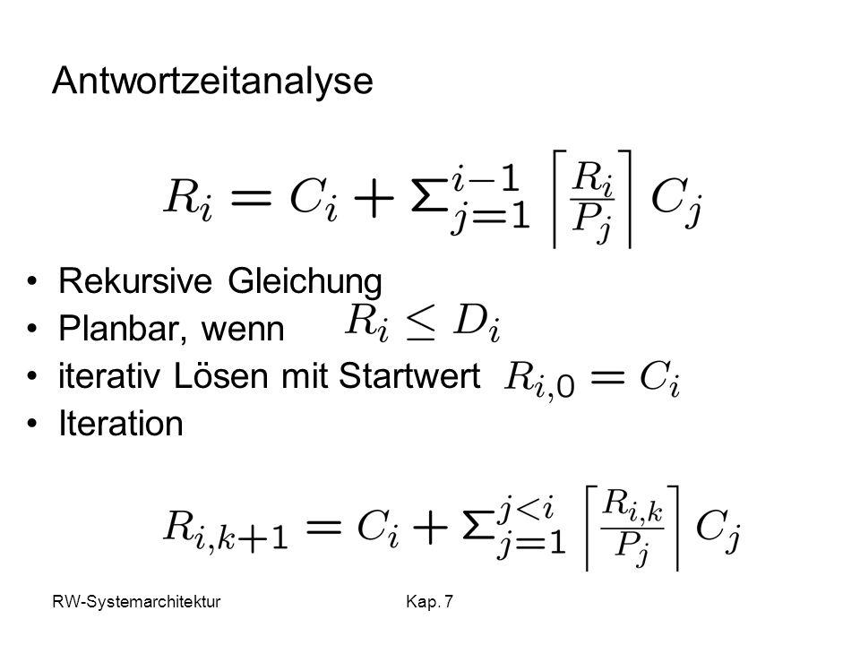 Antwortzeitanalyse Rekursive Gleichung Planbar, wenn