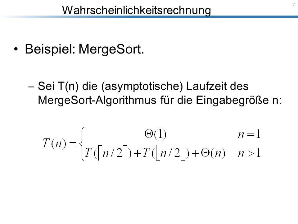 Beispiel: MergeSort.