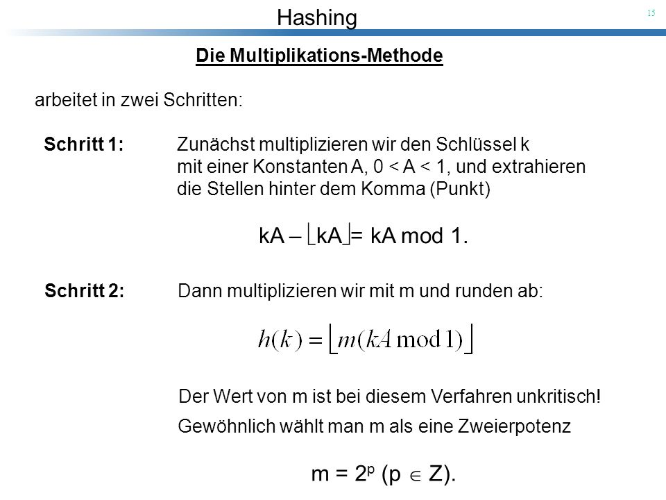 Die Multiplikations-Methode