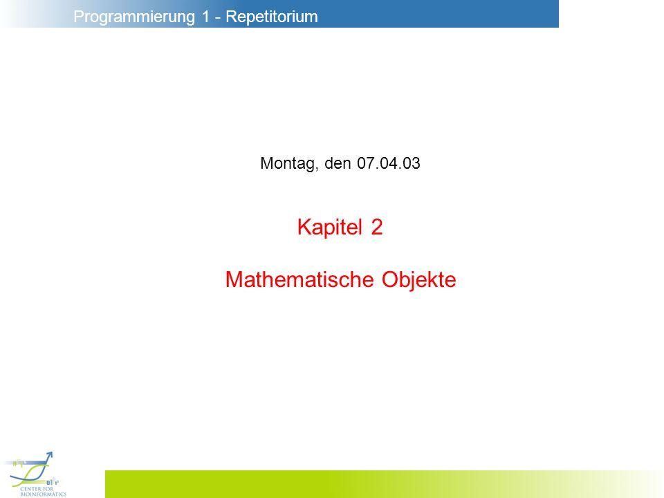 Mathematische Objekte