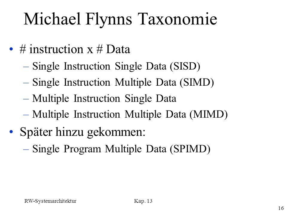 Michael Flynns Taxonomie