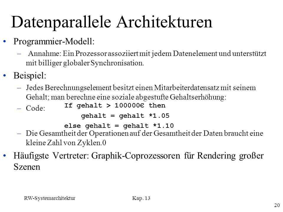 Datenparallele Architekturen