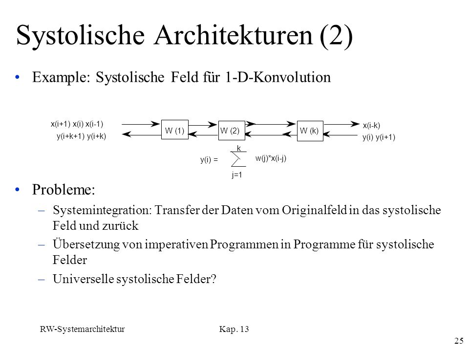 Systolische Architekturen (2)
