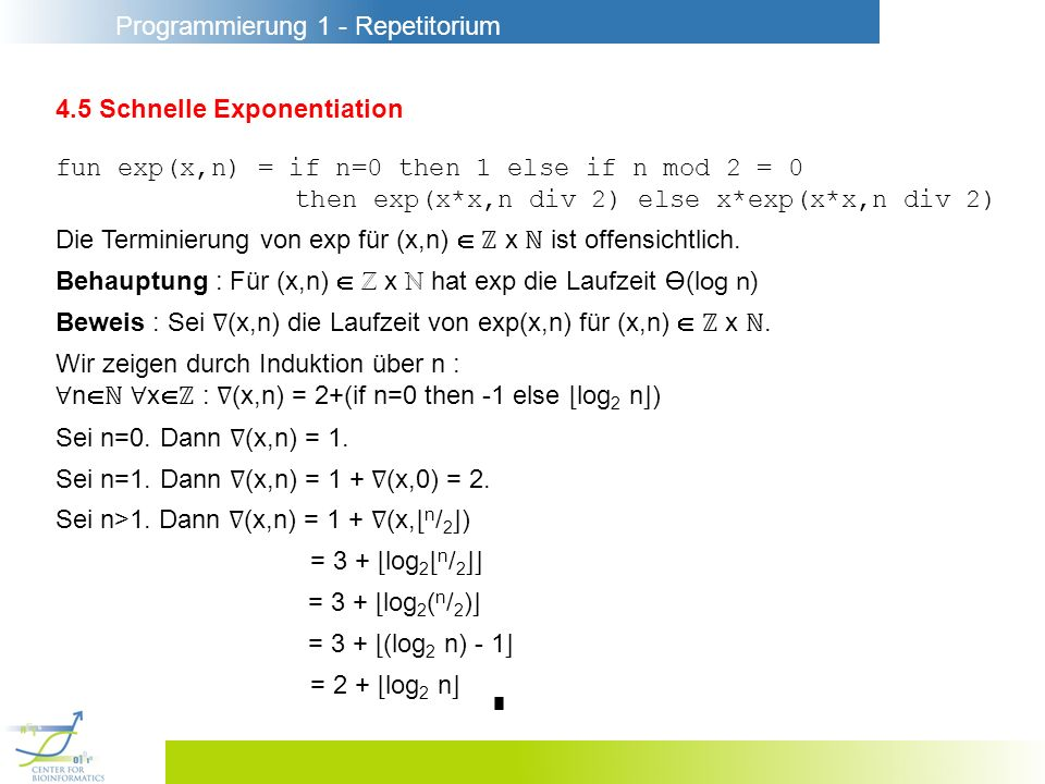4.5 Schnelle Exponentiation