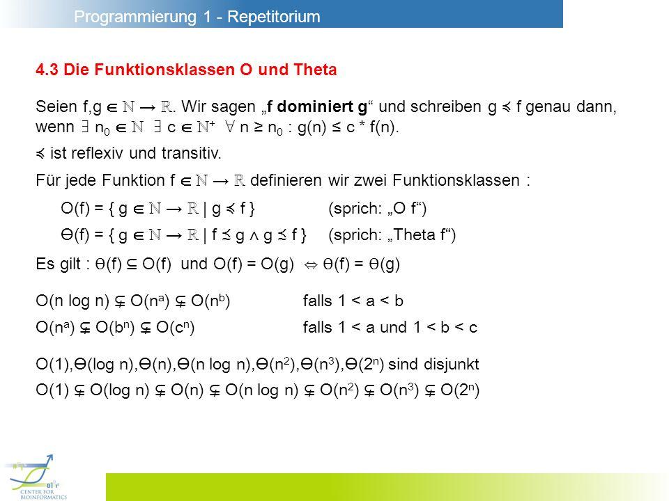 4.3 Die Funktionsklassen O und Theta