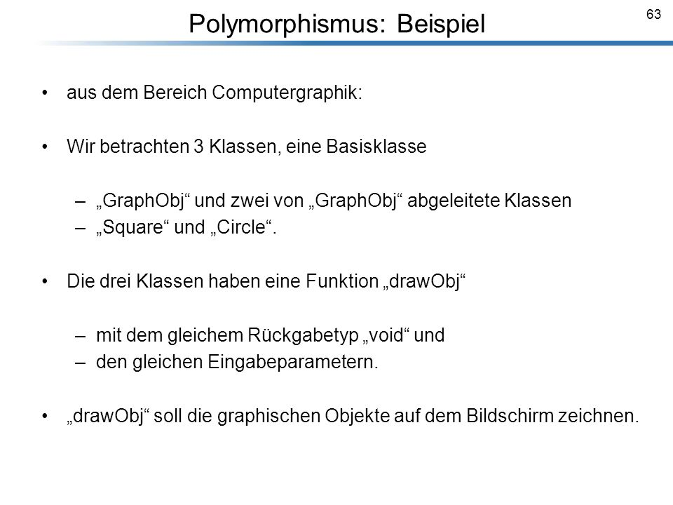 Polymorphismus: Beispiel