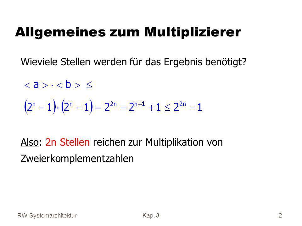 Allgemeines zum Multiplizierer