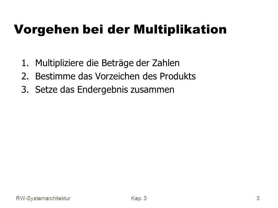 Vorgehen bei der Multiplikation