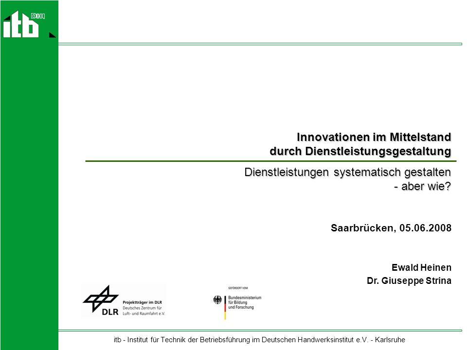 Innovationen im Mittelstand durch Dienstleistungsgestaltung