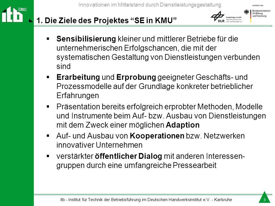 1. Die Ziele des Projektes SE in KMU