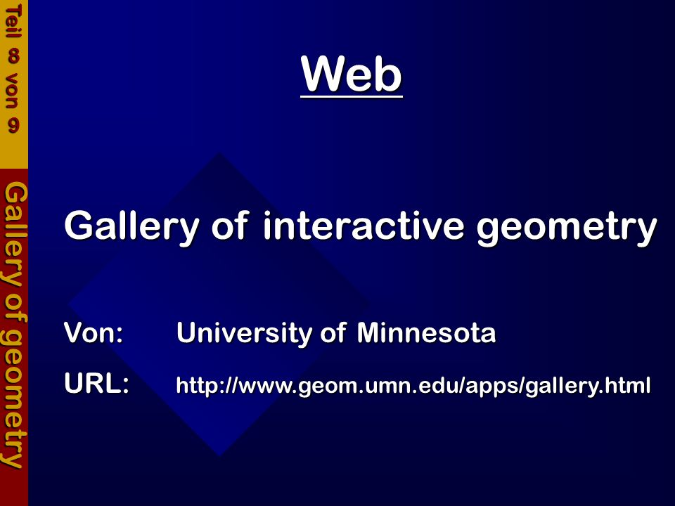 Web Gallery of interactive geometry Gallery of geometry