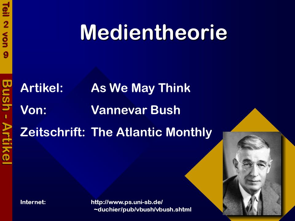 Medientheorie Bush - Artikel Artikel: As We May Think