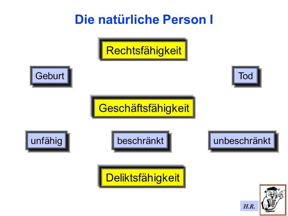 Die natürliche Person I