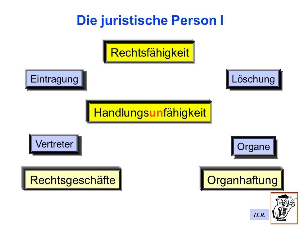 Die juristische Person I