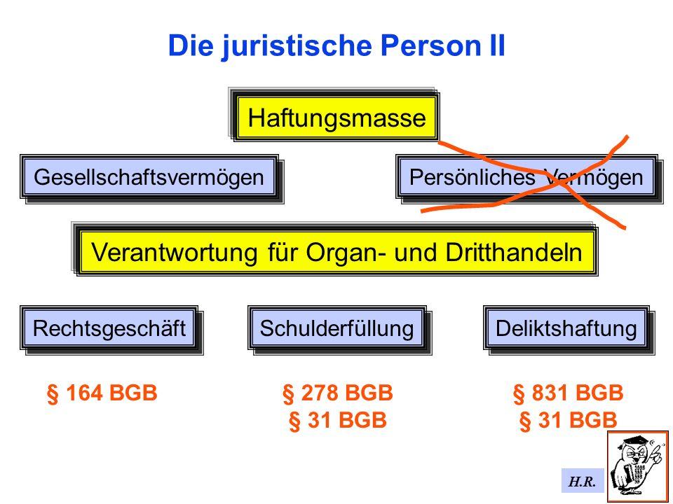 Die juristische Person II
