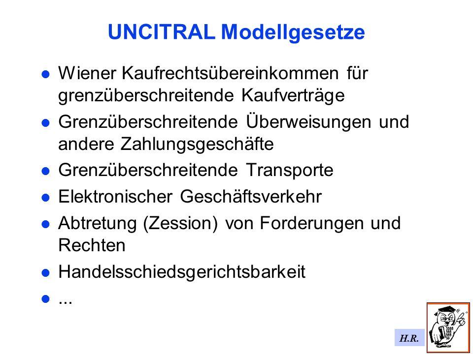 UNCITRAL Modellgesetze