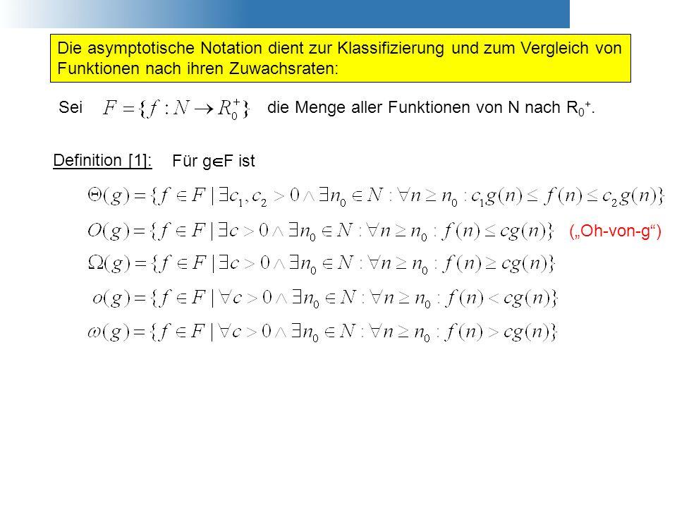 Die asymptotische Notation dient zur Klassifizierung und zum Vergleich von