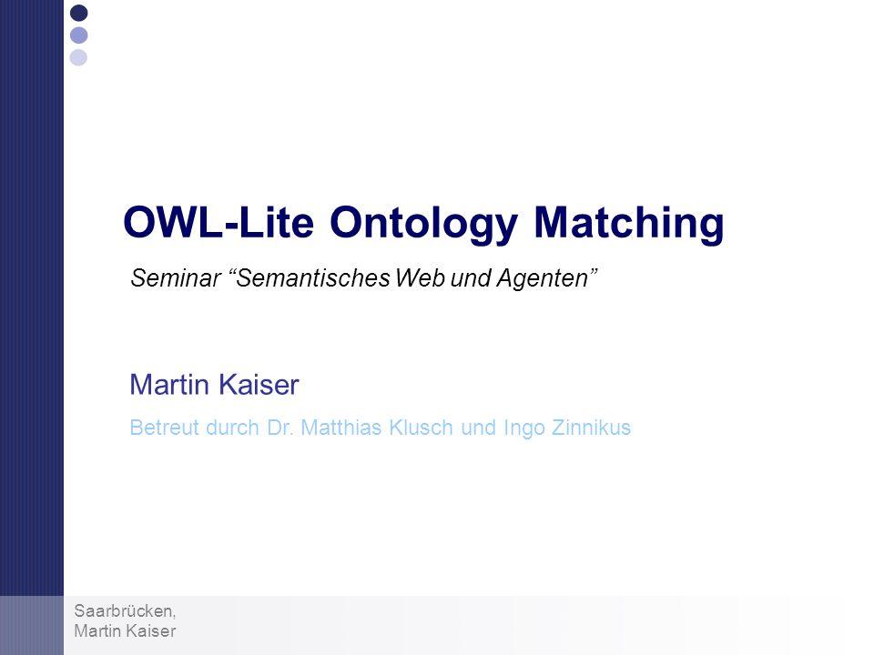 OWL-Lite Ontology Matching