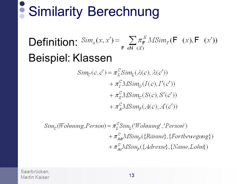 Similarity Berechnung