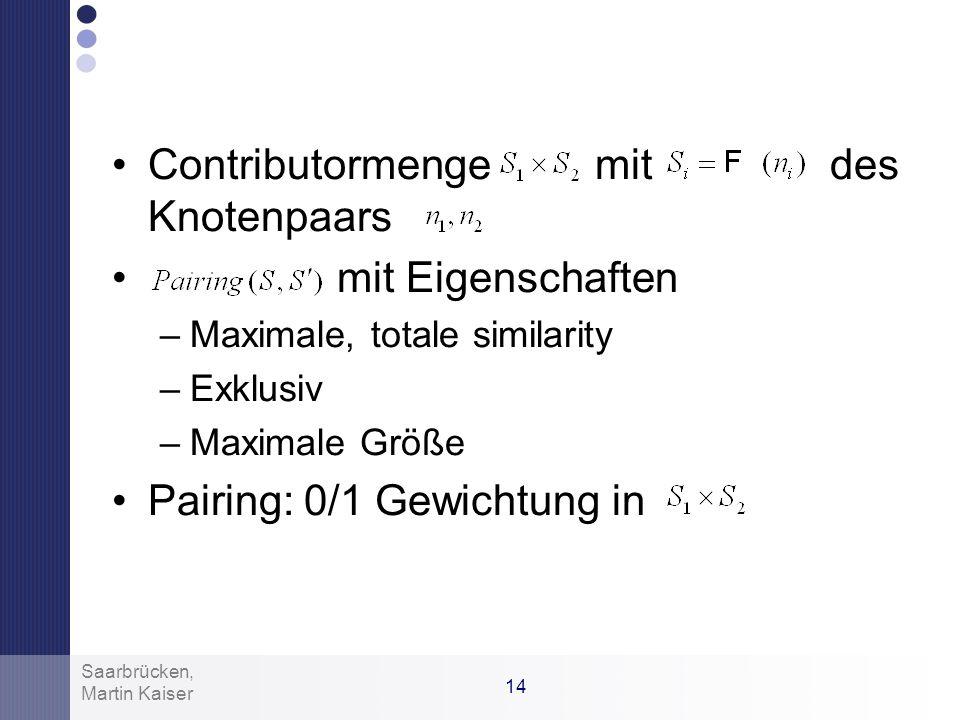 Contributormenge mit des Knotenpaars mit Eigenschaften