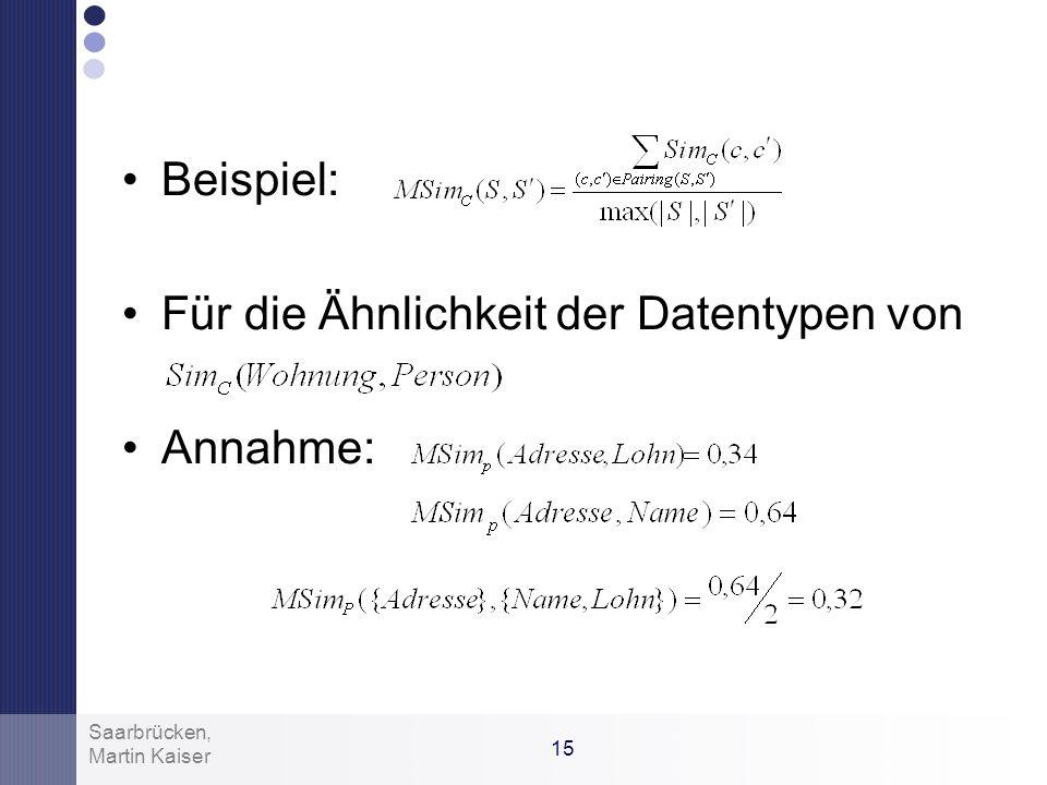 Für die Ähnlichkeit der Datentypen von Annahme: