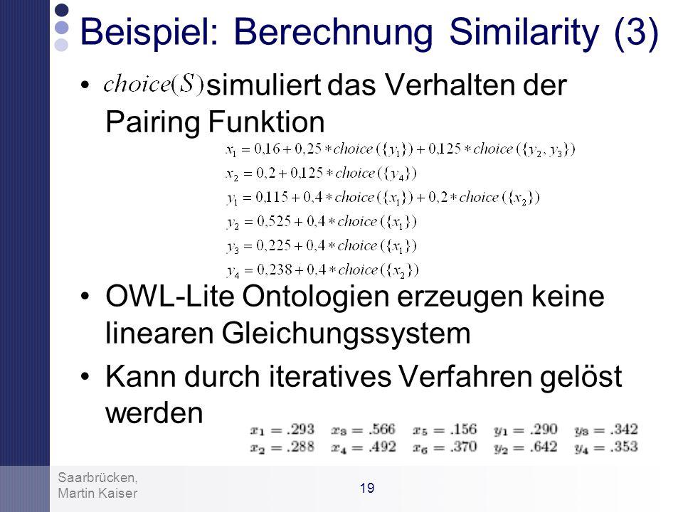 Beispiel: Berechnung Similarity (3)