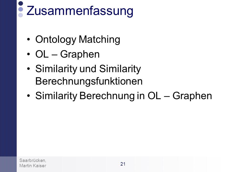 Zusammenfassung Ontology Matching OL – Graphen