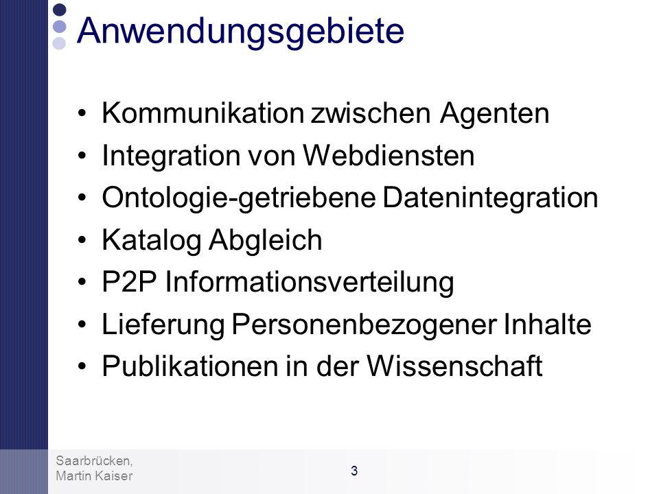 Anwendungsgebiete Kommunikation zwischen Agenten