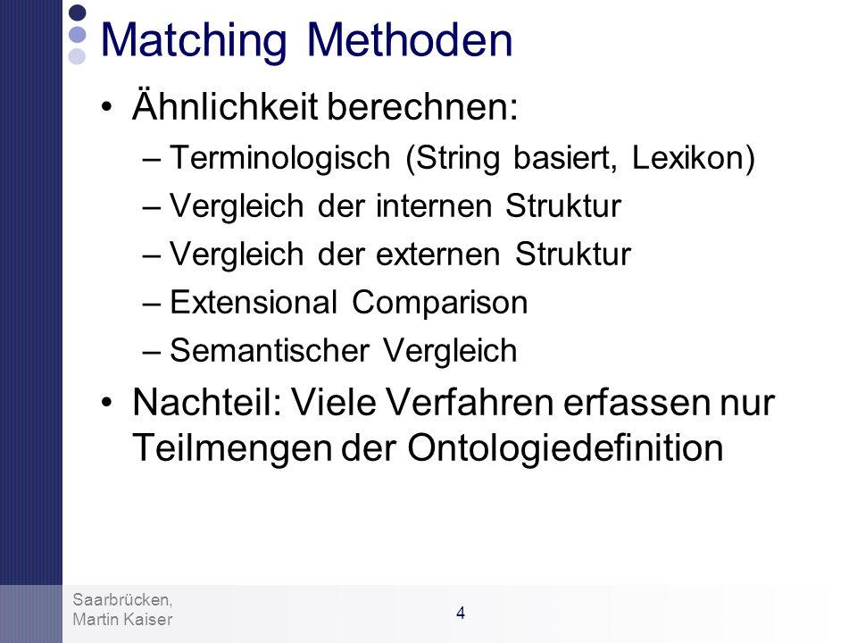 Matching Methoden Ähnlichkeit berechnen: