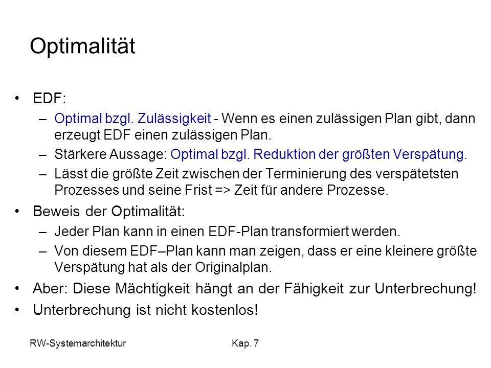 Optimalität EDF: Beweis der Optimalität:
