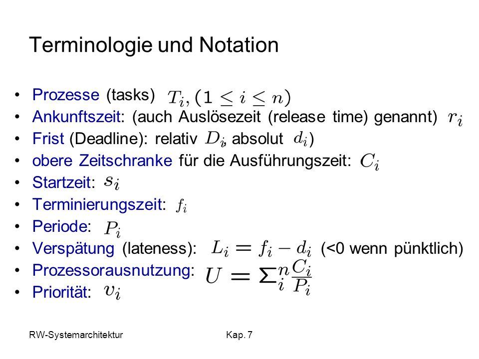Terminologie und Notation