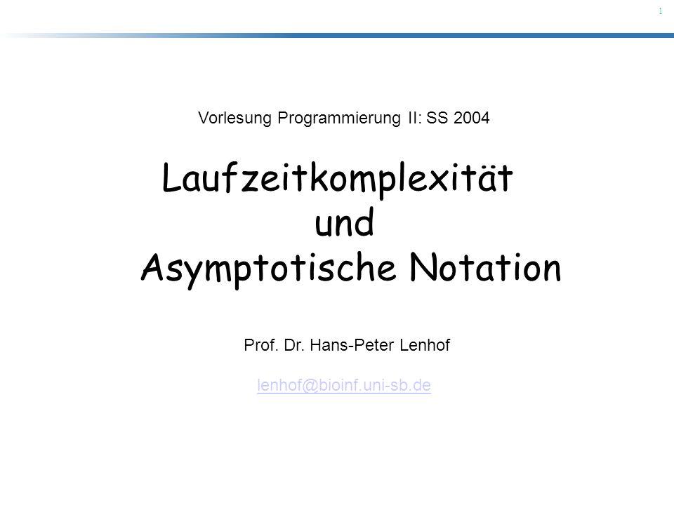 Asymptotische Notation