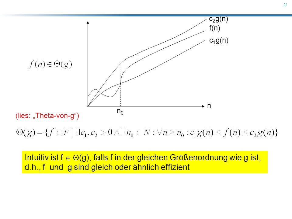 d.h., f und g sind gleich oder ähnlich effizient