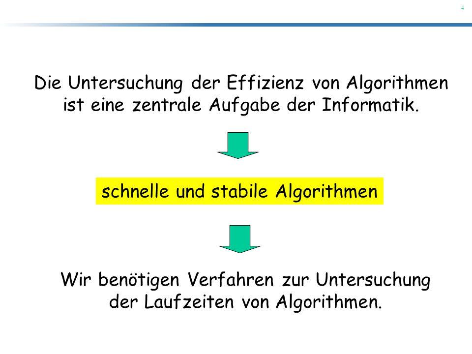 Die Untersuchung der Effizienz von Algorithmen