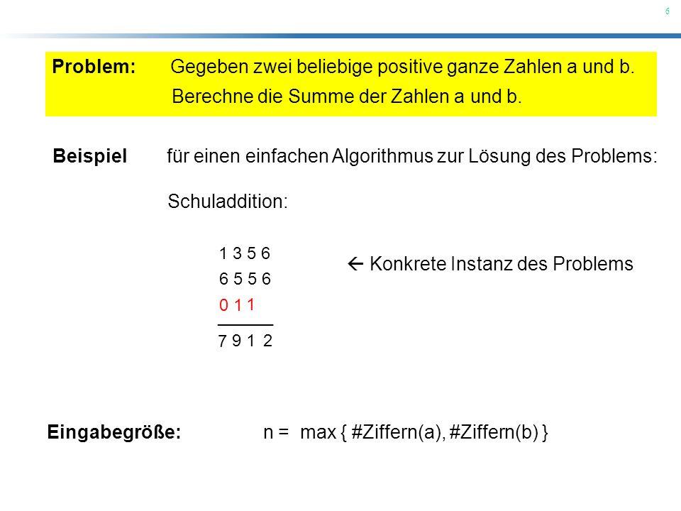 Gegeben zwei beliebige positive ganze Zahlen a und b.