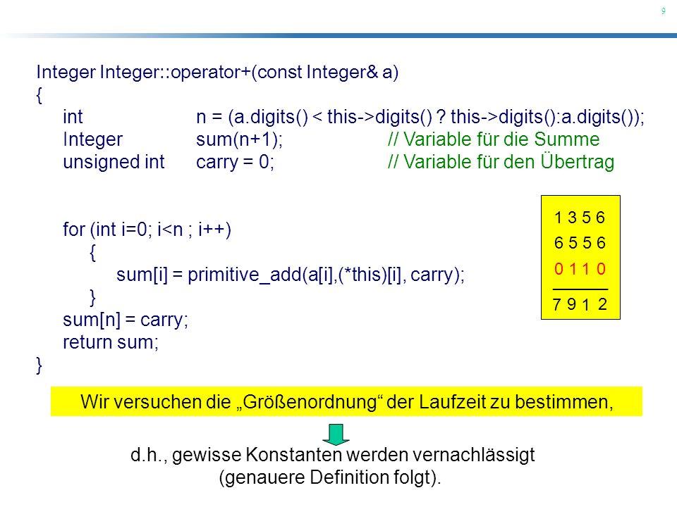 Integer Integer::operator+(const Integer& a) {