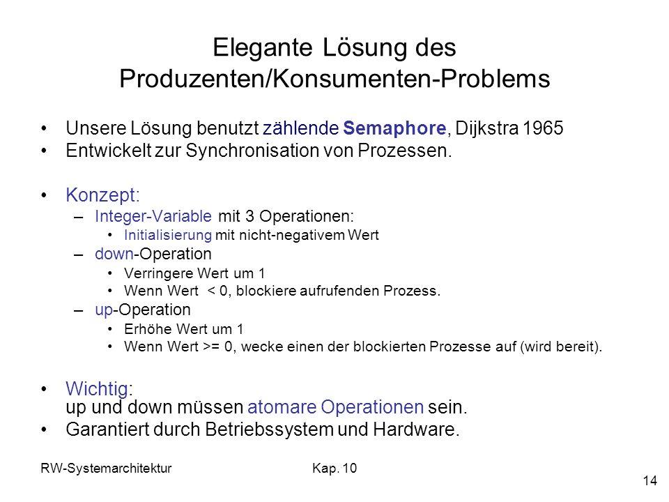 Elegante Lösung des Produzenten/Konsumenten-Problems