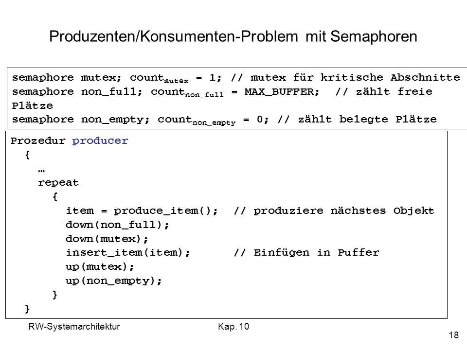 Produzenten/Konsumenten-Problem mit Semaphoren