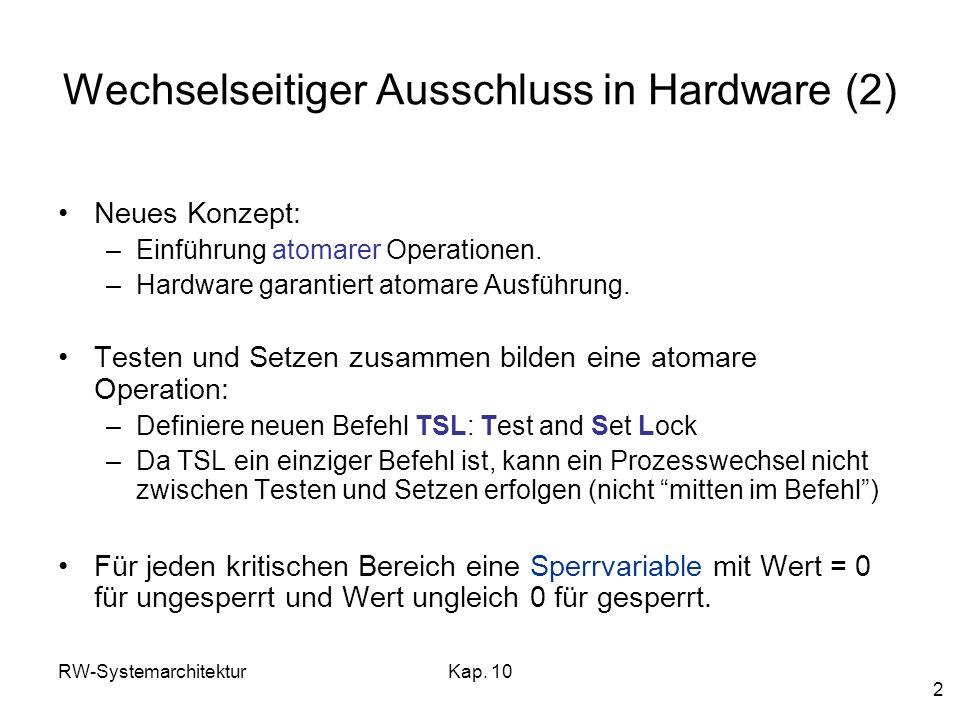 Wechselseitiger Ausschluss in Hardware (2)