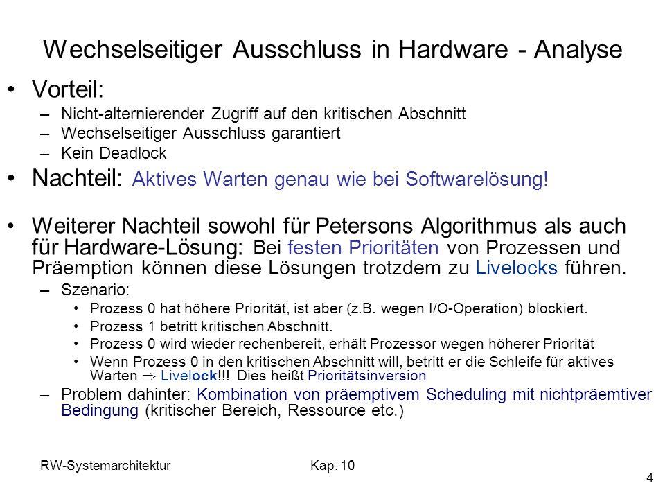 Wechselseitiger Ausschluss in Hardware - Analyse