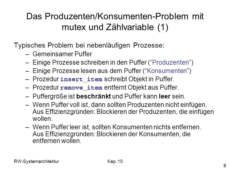 Das Produzenten/Konsumenten-Problem mit mutex und Zählvariable (1)