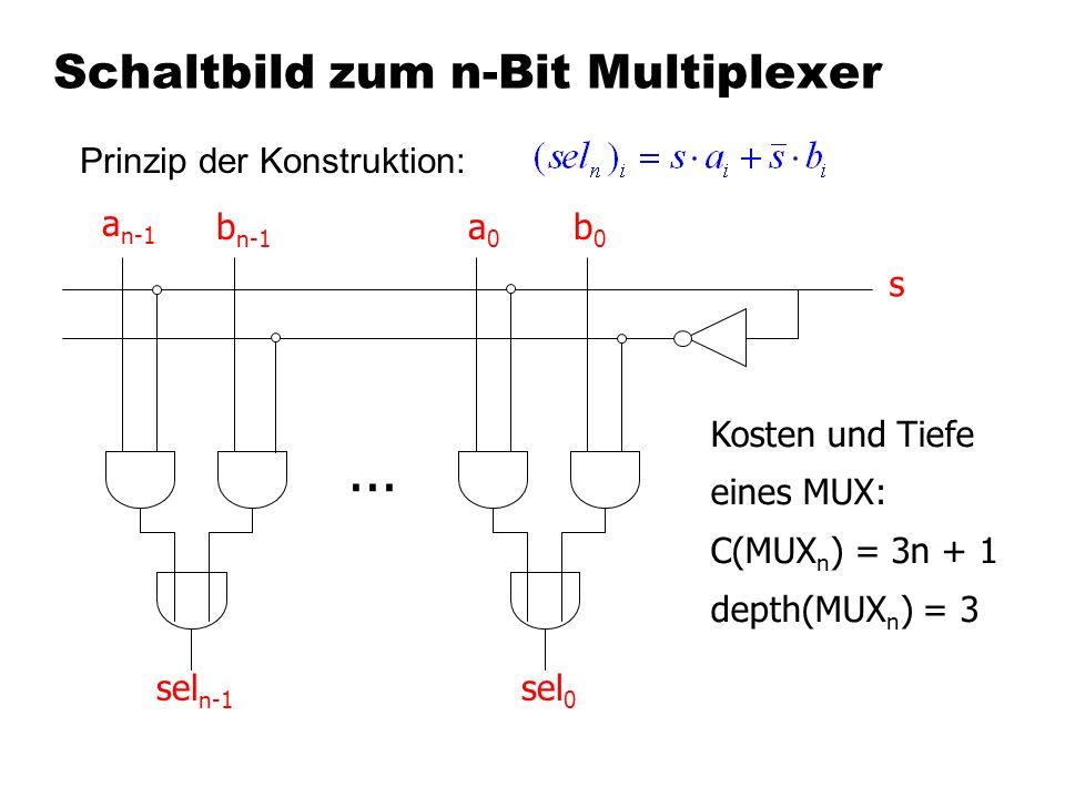 Schaltbild zum n-Bit Multiplexer