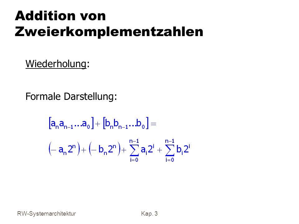 Addition von Zweierkomplementzahlen