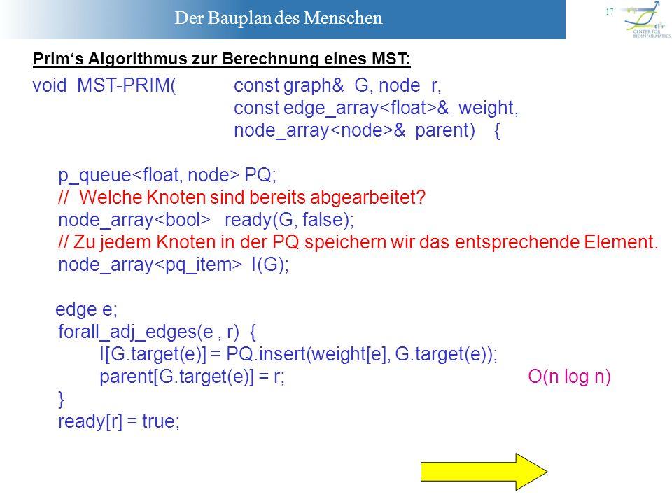 void MST-PRIM( const graph& G, node r,