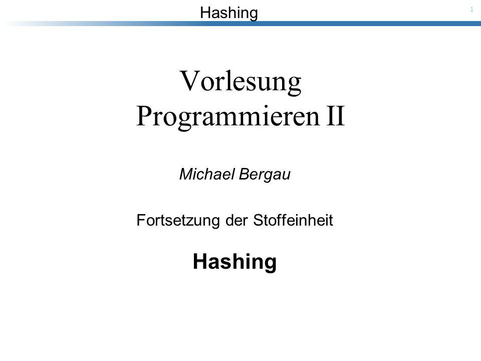 Vorlesung Programmieren II