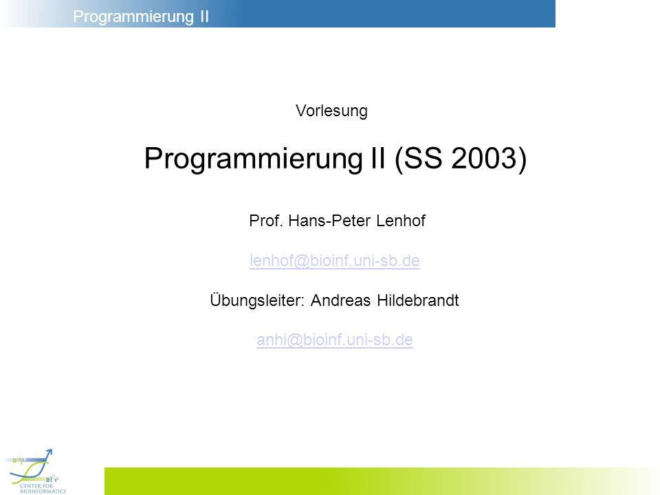 Programmierung II (SS 2003)