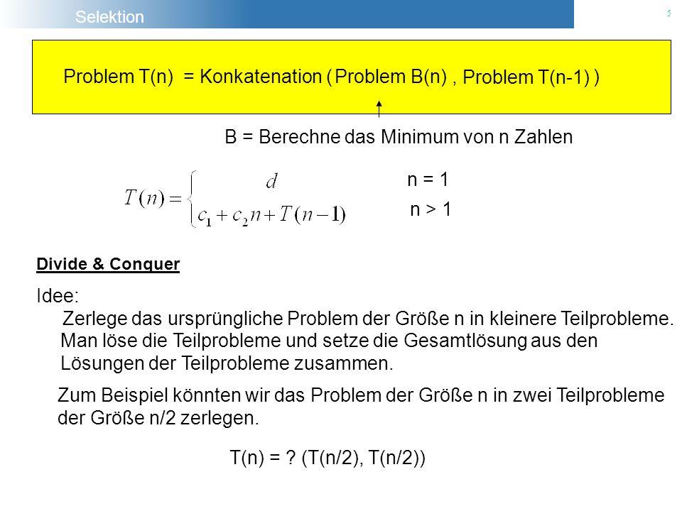 B = Berechne das Minimum von n Zahlen