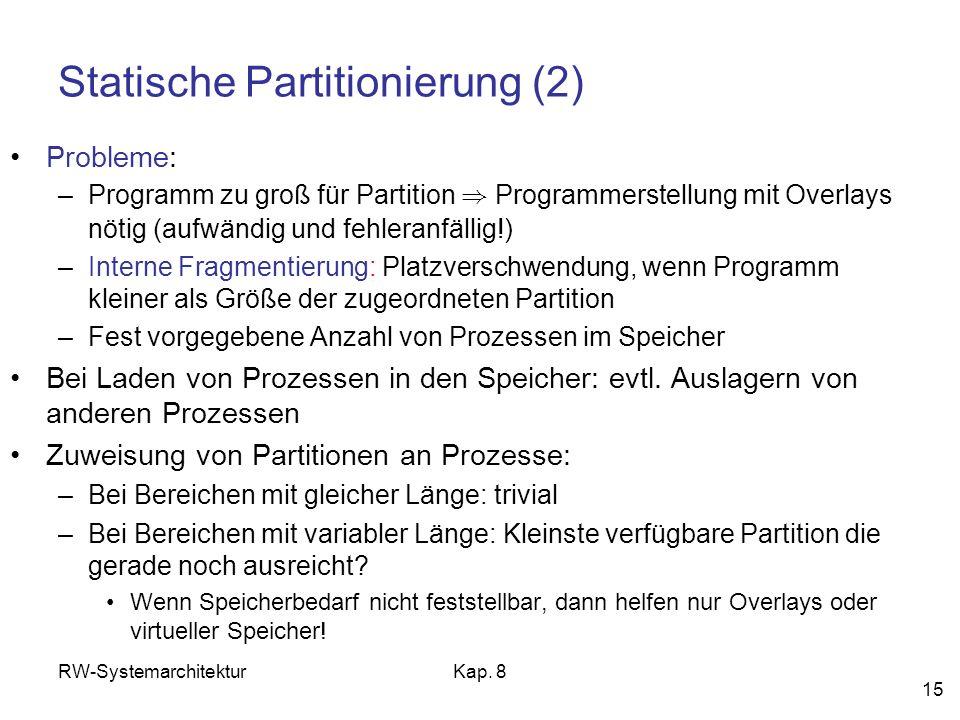 Statische Partitionierung (2)