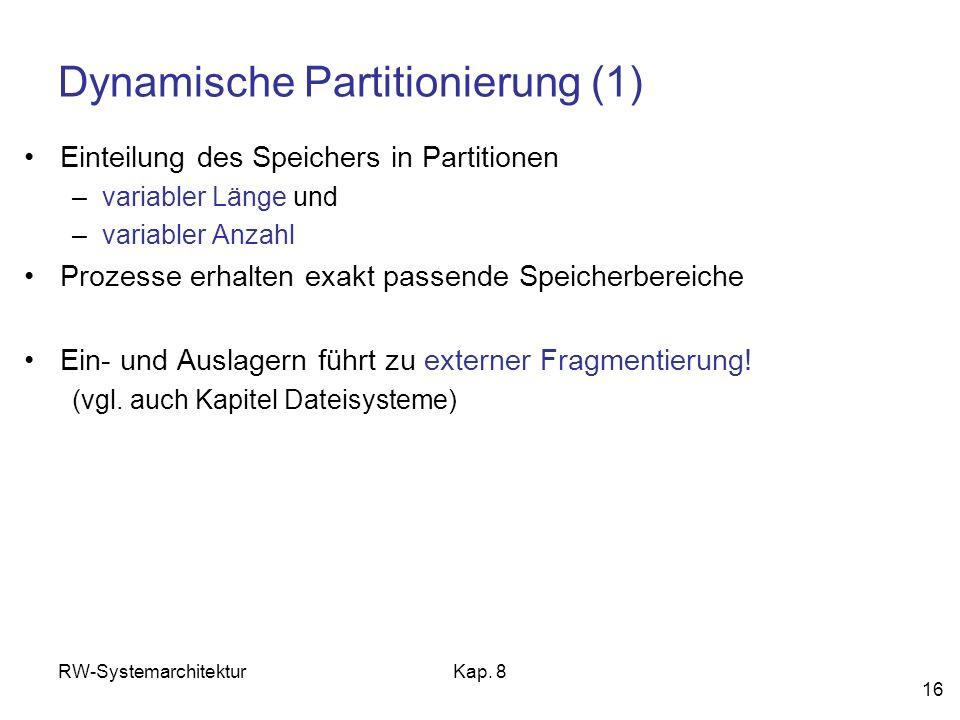 Dynamische Partitionierung (1)